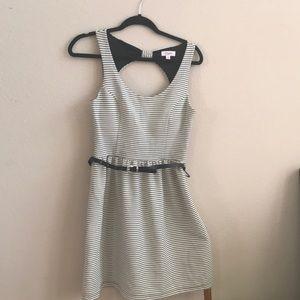 Stripes open back dress